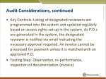 audit considerations continued3