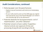 audit considerations continued6