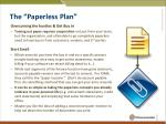 the paperless plan