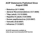 acip statements published since august 2006