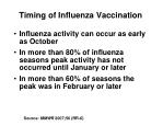 timing of influenza vaccination