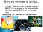 there are two types of conflict