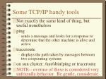 some tcp ip handy tools