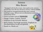 science mrs brown