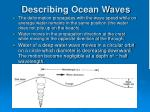 describing ocean waves1