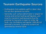 tsunami earthquake sources