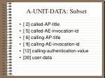 a unit data subset
