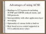 advantages of using acse