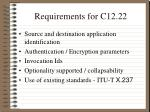 requirements for c12 22