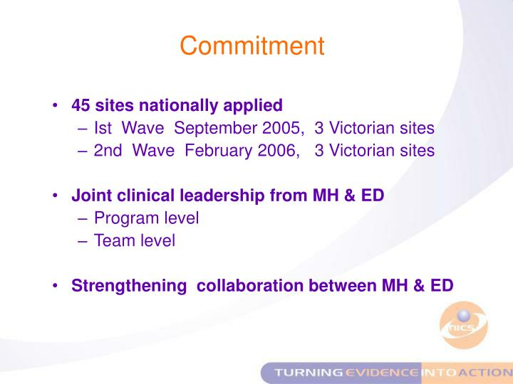 45 sites nationally applied