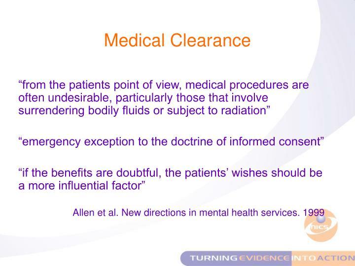 Medical Clearance