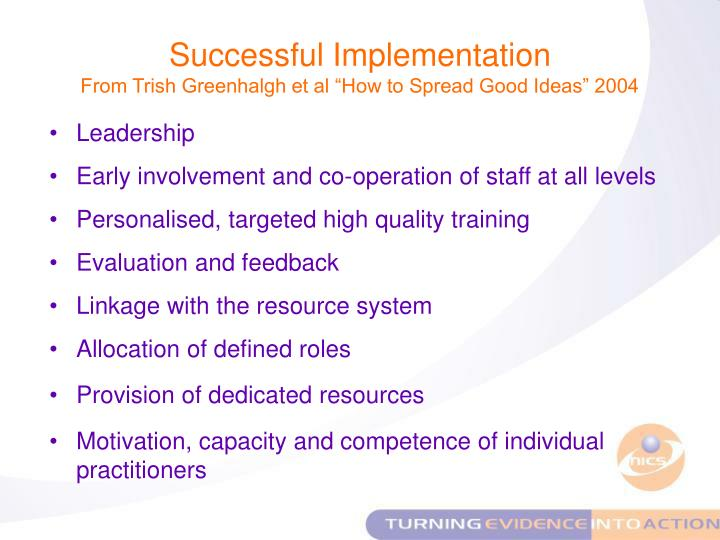 Successful Implementation