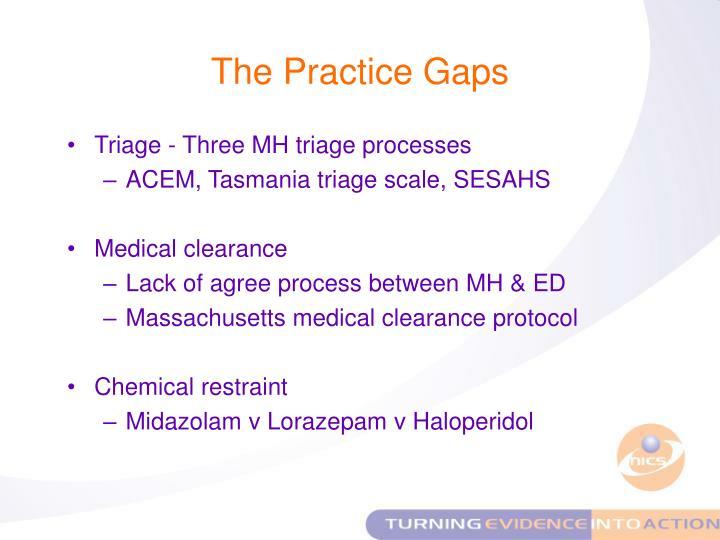 The Practice Gaps