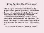 story behind the confession