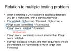 relation to multiple testing problem