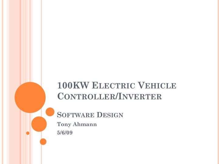 100kw electric vehicle controller inverter software design n.