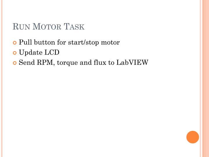 Run Motor Task