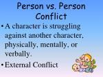 person vs person conflict