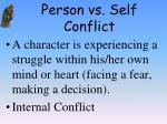 person vs self conflict