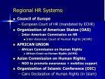regional hr systems