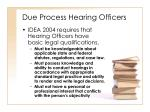 due process hearing officers