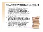 related services section 602 26