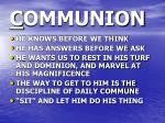 c ommunion