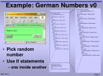 example german numbers v0