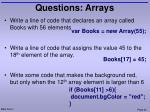 questions arrays1