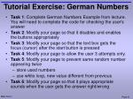 tutorial exercise german numbers