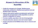 answers to discussions of the assembly