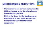 mediterranean institutions