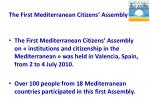 the first mediterranean citizens assembly