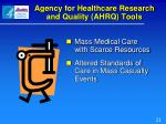 agency for healthcare research and quality ahrq tools