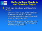 california surge standards and guidelines project