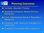 planning outcomes