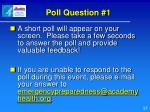 poll question 1