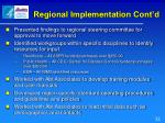 regional implementation cont d1
