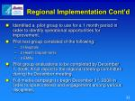 regional implementation cont d2