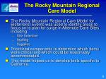 the rocky mountain regional care model