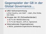 gegenspieler der g8 in der global governance