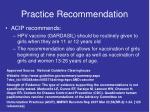 practice recommendation1