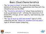 basic cloud characteristics