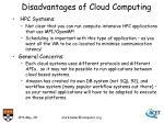 disadvantages of cloud computing5