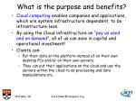 what is the purpose and benefits
