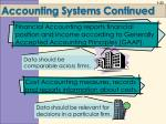 accounting systems continued