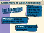 customers of cost accounting1