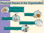 financial players in the organization