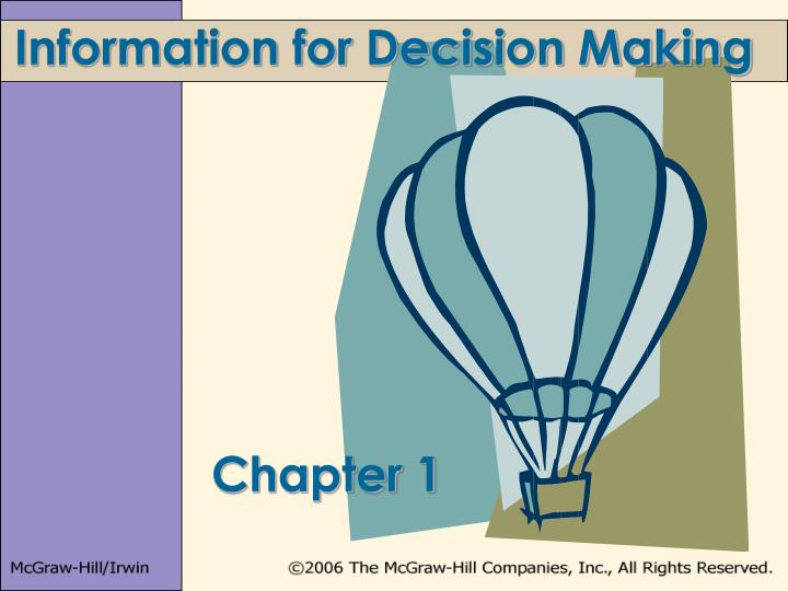 information for decision making n.