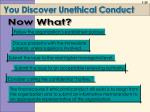 you discover unethical conduct
